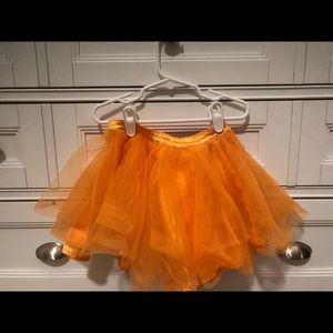 Orange Tulle Gymboree Skirt 4T